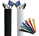 """PREMIUM 118"""" Cable Management Sleeve with Free Velcro Ties 