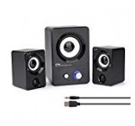 HTRise USB Powered Computer Speakers System (X7 Black) for Gaming/Music/Movies, Active Multimedia Stereo Subwoofer for Laptop/Desktop/Lenovo/HP/ThinkPad/IBM/DELL/SONY/MACFEE/SAMSUN/ACER/Microsoft/PC
