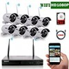 OOSSXX 8-Channel HD 1080P Wireless Network/IP Security Camera System(IP Wireless WIFI NVR Kits),8Pcs 1080P 2.0 Megapixel Wireless Indoor/Outdoor IR Bullet IP Cameras,P2P,App, HDMI Cord&2TB HDD