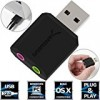 Sabrent USB External Stereo Sound Adapter for Windows and Mac. Plug and play No drivers Needed. (AU-MMSA)