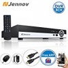 Jennov 8 Channel H.264 960H Digital Video Recorder DVR For Security Surveillance Camera System Mobile Phone Remote View With Free HDMI Cable