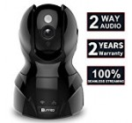 HD Wireless WiFi Surveillance IP Security Camera with Stable Seamless Streaming,Motion Detection,Night Vision,Remote Viewing and Recording,2-Way Audio,Pan/Tilt/Zoom,for Home/Shop Monitor,Black