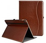 IPad Pro 12.9 Inch 2017 / 2015 Case, Ztotop Premium Leather Business Slim Folding Stand Folio Cover for New Apple Tablet with Auto Wake / Sleep and Document Card Slots, Multiple Viewing Angles,Brown