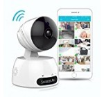 Indoor Wireless IP Camera – HD 7200p Network Security Surveillance Home Monitoring Featuring Motion Detection, Night Vision, PTZ, 2 Way Audio, iPhone Android Mobile App – PC WiFi Access – IPCAMHD30