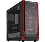 SilverStone Technology ATX Gaming Computer Case – Black with Red LED (RL05BR-W)