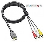 HDMI to RCA Cable, [upgrade] HDMI to RCA Converter Adapter Best Buy Audio Extractor Jacks Cord