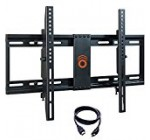 ECHOGEAR Tilting TV Wall Mount With Low Profile Design for 32-70 inch TVs – Eliminates Screen Glare With 15 Degrees of Smooth Tilt – Easy Install With All Hardware Included – EGLT1-BK