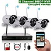 OOSSXX 8CH 1080P HD Wireless Video Security Camera System,4 pcs 720P Megapixel Wireless Weatherproof Bullet IP Cameras,Plug and Play,70FT Night Vision,P2P,App, HDMI Cord&1TB HDD Pre-install