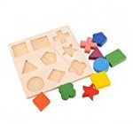 VIPASNAM-Wooden Math Geometry Block Puzzle Preschool Toy Kids Baby Learning Early Educati