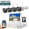 ONWOTE Plug n Play All-in-One 1080P HD NVR Wireless WiFi Security Camera System with 10.1″ LCD Monitor, 1TB Hard Drive and 4 Outdoor Night Vision IP Surveillance Camera (Built-in Router, Auto-Pair)