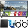 LG 49UJ6300 49″ UHD 4K HDR Smart LED TV (2017 Model) w/ Indoor Antenna Bundle Includes, Terk Indoor Flat 4K HDTV Multi-Directional Antenna, 2x 6ft HDMI Cable and LED TV Screen Cleaner