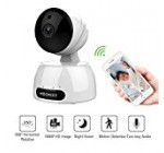 Wireless Security Camera, Baby/Pets/Elderly Monitor WiFi 1080P HD Indoor Home Video Surveillance Camera with Motion Detection, Night Vision, 2 Way Audio -White