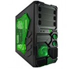 Apevia X-SNIPER2-GN ATX Mid Tower Gaming Case with Large Green Side Window, 1 x 120mm Green LED Fan, Front USB3.0/Audio Ports, up to 8 x Cooling Fan Space – Green