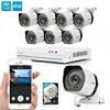 Zmodo 8CH HDMI NVR Simplified PoE Surveillance Video Security Camera System With 8x720p HD Weatherproof Cameras 1TB HD Remote Access Motion Detection