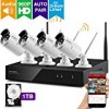 xmartO-Audio & Video, Wireless Security Camera System 4CH 960p HD NVR with 4x 1.3MP HD WiFi IP Cameras and 1TB HDD, Auto-Pair, Built-in Router, Weatherproof, Dream Liner. 80ft IR