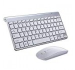 Falande Wireless Keyboard and Mouse Combo 2.4GHz Wireless Keyboard Mouse Combo with Whisper quiet Design and Long Battery Life for Laptop Mac Tablet Desktop PC Computer Smart TV (White)