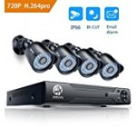 Security Camera System, JOOAN 8 Channel 1080N DVR 4x720P Pro HD-TVI Indoor/Outdoor IP66 Waterproof Bullet Cameras with IR Night Vision LEDs Home CCTV Video Surveillance Kits NO Hard Drive
