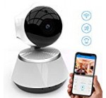 [New 2019 Upgraded] Wireless Security Camera – WiFi Home Surveillance 2.4G IP Remote Cameras for Baby/Pet/Nanny Monitor, Pan/Tilt, Two-Way Audio & Night Vision, 720p HD – Best App for iOS, Android