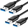 Rankie USB 3.0 Cable, Type A to Type A, 2-Pack 6 Feet