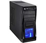 ROSEWILL ATX Mid Tower Gaming Computer Case, Gaming Case with Blue LED for Desktop / PC and 3 Case Fans Pre-Installed, Front I/O Access Ports  (CHALLENGER)