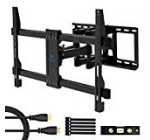 PERLESMITH TV Wall Mount Thickened Bracket,Bears up to 132lbs Most 37-70 inch LED, LCD, OLED Plasma Flat Screen TV VESA 600x400mm, Dual 6 Arms Full Motion Swivel Articulating