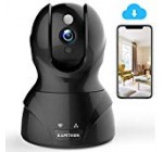 Wireless Security Camera with Two-way Audio – KAMTRON 1080P HD WiFi Security Surveillance IP Camera Home Baby Monitor with Motion Detection Night Vision, Black