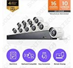 Samsung Wisenet SDH-C85100BF 16 Channel 4MP Super HD DVR Video Security System with 2TB Hard Drive and 10 4MP Weather Resistant Bullet Cameras (SDC-89440BF) – (Certified Refurbished)