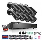 ANNKE Home Security Camera System 8 Channel 1080P Lite DVR with 1TB HDD and (8) HD 1080P Outdoor IP66 Weatherproof CCTV Cameras, Smart Playback, Instant email Alert with Images
