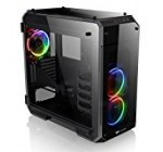 Thermaltake CA-1I7-00F1WN-01 View 71 RGB 4-Sided Tempered Glass Vertical Gpu Modular E-ATX Gaming Full Tower Computer Case with 3 RGB Led Riing Fan Pre-Installed
