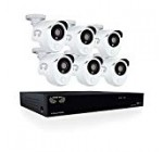 Night Owl Security HD201-86P-B Video Security Camera DVR with 1 TB HDD & 6 x 1080p Wired Infrared, White