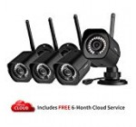 meShare Security Camera System Wireless(4 Pack) -1080p Outdoor Camera Smart Home WiFi IP Camera with Night Vision, Smart Motion Alerts and Weatherproof, Works with Alexa, Power Supply Included