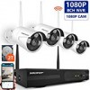 【2019 NEW】Wireless Security Camera System 1080P,SMONET 8-Channel Home Security Camera System(2TB Hard Drive),4pcs 2.0MP Indoor/Outdoor Wireless Security Cameras,P2P,65ft Night Vision,Easy Remote View