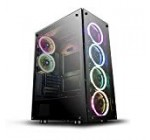 darkFlash Phantom Black ATX Mid-Tower Desktop Computer Gaming Situation USB 3. Ports Tempered Glass Home windows with 6pcs 120mm LED DR12 RGB Followers Pre-Mounted