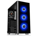 Thermaltake V200 Tempered Glass RGB Version 12V MB Sync Capable ATX Mid-Tower Chassis with 3 120mm 12V RGB Supporter + 1 Black 120mm Rear Fan Pre-Put in CA-1K8-00M1WN-01