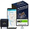 GPS Tracker Vyncs No Regular monthly Fee OBD, True Time 3G Auto GPS Tracking Trips Totally free one Yr Info Strategy Teen Unsafe Driving Inform Motor Knowledge Fleet Checking Fuel Report Optional Roadside (Black, 2.56)