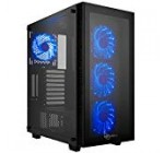 Rosewill ATX Mid Tower Gaming Pc Pc Scenario with Blue LED Fans, 360mm AIO Drinking water Cooling Radiator Help, three Sided Tempered Glass, Fantastic Cable Administration/Airflow – CULLINAN MX-Blue