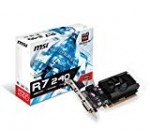 MSI AMD Radeon R72402364P 2GB DDR3 VGA/DVI/HDMI Reduced Profile PCI-Express Video Card