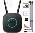 1Mii B06Pro Long Variety Bluetooth Receiver, HiFi Wireless Audio Adapter, Bluetooth 4.two Receiver with 3D Surround aptX Minimal Latency Optical RCA AUX 3.5mm for House Stereo System