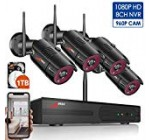 1080P Wireless Residence Protection Camera Technique Out of doors,8CH 1080P Hd NVR Wireless CCTV Surveillance Programs WiFi NVR Kits with 4Pcs 960P Wi-fi IP Cameras,Grow Up to 8pcs Cams,1TB Hard Drive by ANRAN