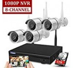 Wireless eight-Channel 1080P Safety Digital camera System with 4pcs 720P Full Hd Cameras,House CCTV Surveillance Technique,Indoors&Outside IP Cameras+8CH Home WiFi NVR Recorder,1TB Hard Disk Generate Pre-Put in