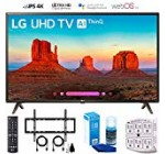 "LG 49UK6300 forty nine"" UK6300 Wise 4K UHD Television (2018) with Wall Mount + Cleansing Kit (49UK6300PUE)"