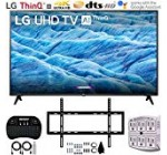 LG 70UM7370PUA 70″ 4K HDR Intelligent LED IPS Tv set w/AI ThinQ (2019) + Flat Wall Mount Greatest Bundle + two.4GHz Wi-fi Keyboard Sensible Remote w/Touchpad + 6-Outlet Surge Adapter w/Night time Mild