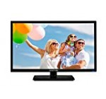 Sceptre E246BV-FC 24″ LED HDTV Display 1920×1080 Total High definition HDMI VGA USB, Correct Black (2017)