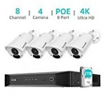 4K PoE Safety Digital camera Method, Hornbill eight Channel 8MP Stability Camera Technique with 2TB Hard Travel,4Pcs IP67 Water-proof Outside Security Camera with 100ft Night time Vision,24/seven Wired Security Camera Technique