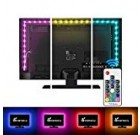 Vansky Television set Backlight Package Bias Lights for Television set,LED Strip Lights USB Driven LED Gentle Strip RF Remote 30-55 inch Tv,Desktop Pc – Reduce Eye Strain Boost Image Clarity