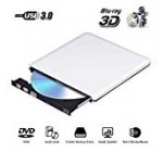 Exterior Blu Ray CD DVD Generate 3D 4K, USB three. Optical Bluray DVD CD RW Row Burner Player Rewriter Portable Suitable for MacBook OS Home windows 7 8 10 Personal computer iMac (Silver)