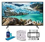 Samsung 65″ RU7100 LED Intelligent 4K UHD Tv 2019 Model (UN65RU7100FXZA) with Flat Wall Mount Kit Greatest Bundle for forty five-ninety inch TVs, Display screen Cleaner for LED TVs & SurgePro six-Outlet Surge Adapter