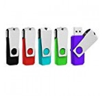 Aiibe 5pcs 8GB USB 2. Flash Drive Memory Adhere Thumbdrives (Mixed Color : Black Crimson Cyan Green Purple)