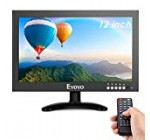 """Eyoyo 12"""" inch Small HDMI CCTV Keep an eye on, 1366×768 IPS Steel Housing LED Display W/Wall Bracket&Remote Manage with HDMI/VGA/AV/BNC Input Created-in Speakers for Pc, Protection Camera, Raspberry Pi"""