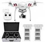 DJI Phantom three Regular Quadcopter Aircraft with three-Axis Gimbal and two.7k Digicam, Bundle with Spare Battery, DJI Aluminum Case